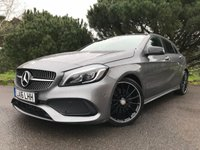 "USED 2016 16 MERCEDES-BENZ A CLASS 2.1 A 220 D AMG LINE PREMIUM PLUS 5d AUTO 174 BHP TOP SPEC WITH SUPERB LOOKS DCT AUTOMATIC NAV REV CAMERA 18"" ALLOYS"