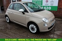USED 2014 14 FIAT 500 1.2 COLOUR THERAPY 3d 69 BHP +LOW Tax +Full MOT +Serviced.
