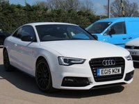USED 2015 15 AUDI A5 2.0 TDI S LINE BLACK EDITION PLUS 2d AUTO 177 BHP AUTOMATIC, LEATHER, SAT NAV + BANG AND OLUFSEN SOUND