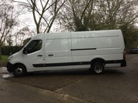 USED 2016 16 RENAULT MASTER 2.3 LML35 BUSINESS DCI S/R P/V DRW 1d 125 BHP TWIN REAR WHEEL, LONG WHEEL BASE,