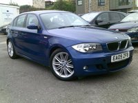 2009 BMW 1 SERIES 2.0 120D M SPORT 5d AUTO 174 BHP £5895.00