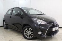 USED 2015 15 TOYOTA YARIS 1.3 VVT-I ICON 3DR 99 BHP SERVICE HISTORY + BLUETOOTH + MULTI FUNCTION WHEEL + RADIO/CD + AIR CONDITIONING + AUXILIARY PORT + 15 INCH ALLOY WHEELS