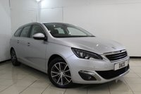 USED 2015 15 PEUGEOT 308 1.6 BLUE HDI S/S SW ALLURE 5DR 120 BHP SERVICE HISTORY + SAT NAVIGATION + REVERSE CAMERA + BLUETOOTH + CRUISE CONTROL + MULI FUNCTION WHEEL + CLIMATE CONTROL + ALLOY WHEELS
