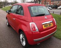 USED 2014 14 FIAT 500 1.2 LOUNGE 3d 69 BHP LOW TAX, LOW INSURANCE, LOW RUNNING COSTS :