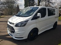 2015 FORD TRANSIT CUSTOM 2.2 290 LR DCB 5d 125 BHP FACTORY 6 SEAT & RS STYLING PACK £15250.00