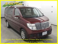 USED 2005 54 NISSAN ELGRAND 3.5 V 8 Seats,Rare Red Purple Pearl, XENONS, Rear Camera +ONLY 52K+RARE RED PURPLE PEARL+2 POWER SLIDE DOORS+REVERSE CAMERA+
