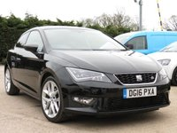 USED 2016 16 SEAT LEON 2.0 TDI FR TECHNOLOGY 3d 150 BHP SATELLITE NAVIGATION, 18 INCH ALLOYS, AA DEALER PROMISE
