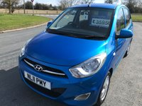 USED 2011 11 HYUNDAI I10 1.2 ACTIVE 5 door aircon alpine blue metallic 46000 miles fsh