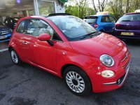 USED 2015 65 FIAT 500 1.2 CONVERTIBLE LOUNGE 3d 69 BHP New Shape Model finished in rare Glam Coral Pink, One Lady Owner from new, Just Serviced by ourselves, Minimum 9 months MOT, Convertible, Great on fuel economy! Only £20 Road Tax! Balance of Fiat Warranty until September 2018