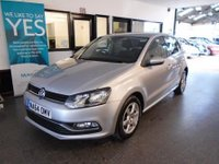USED 2014 64 VOLKSWAGEN POLO 1.4 SE TDI BLUEMOTION 5d 74 BHP This Polo is £0 tax and will average at least 65 mpg!! Its finished in reflex silver with Black cloth seats. It is fitted with remote central locking, start stop technology, Alloys, air con, USB/ D A B radio, power steering, electric windows, Bluetooth, CD Stereo with Aux port and more. It has had one company owner from new, and comes with an excellent service history including a new clutch and flywheel at 94000 miles. The Mot runs till November 2018 and was carried out by VW in Burton on Trent.