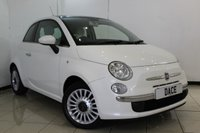 USED 2012 12 FIAT 500 1.2 LOUNGE 3DR 69 BHP SERVICE HISTORY + AIR CONDITIONING + MULTI FUNCTION WHEEL + RADIO/CD + ELECTRIC WINDOWS + 15 INCH ALLOY WHEELS