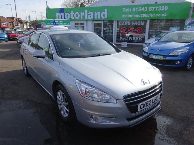 USED 2012 62 PEUGEOT 508 1.6 HDI SR 4d 112 BHP **JUST ARRIVED.....SAT NAV**SERVICE HISTORY**