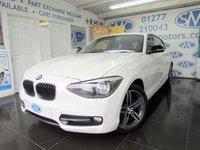 2012 BMW 1 SERIES 2.0 116D SPORT 3d AUTO 114 BHP £10695.00