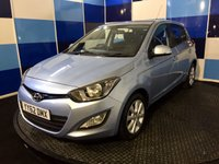 USED 2012 62 HYUNDAI I20 1.2 ACTIVE 5d 84 BHP A truely wonderfull example of this highly regarded small family hatchback finished in pale blue matalic contrasted with silver alloy wheels ,this car is in excelent condition throughout ,however is recorded as cat d but was repaired over four years ago and has been in daily use since any inspection is welcomed .This car comes fully loaded with all the usual refinements ,it returns a very impressive combined mpg of 57.6 in conjunction with road fund at a measley £30 deffinitely one to be concide