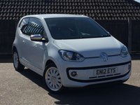 USED 2012 12 VOLKSWAGEN UP 1.0 UP WHITE 3d 74 BHP