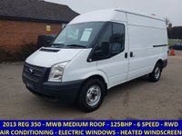2013 FORD TRANSIT 125 350 MWB MEDIUM ROOF 5 WITH AIR CON  £6695.00