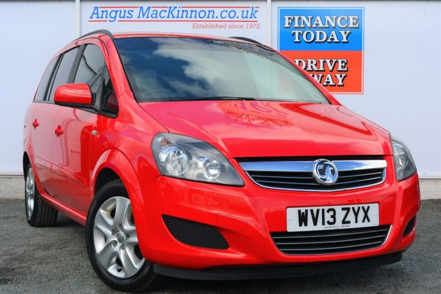 2013 13 VAUXHALL ZAFIRA 1.6 EXCLUSIVE 5dr with 7 Seats Great Family Value