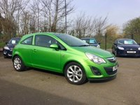 2012 VAUXHALL CORSA 1.2 ACTIVE AC 3d  WITH HALF LEATHER AND SERVICE HISTORY  £SOLD