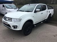 2015 MITSUBISHI L200 2.5 DI-D 4X4 BARBARIAN BLACK LB DCB 1d AUTO 175 BHP LEATHER LOAD COVER ONE OWNER FSH £13900.00