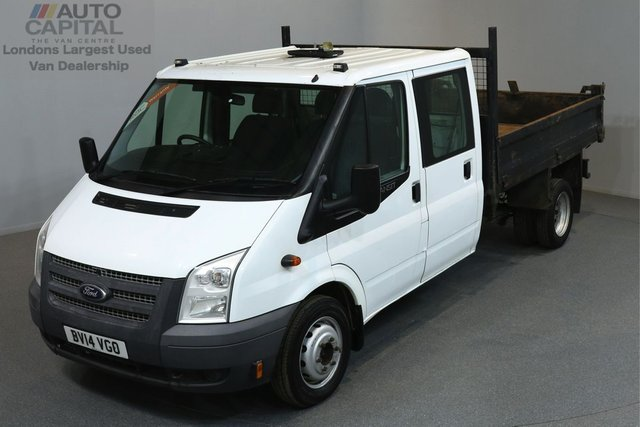 2014 14 FORD TRANSIT 2.2 350 DRW 99 BHP L3 LWB TIPPER ONE OWNER FROM NEW, MOT UNTIL 13/03/2019