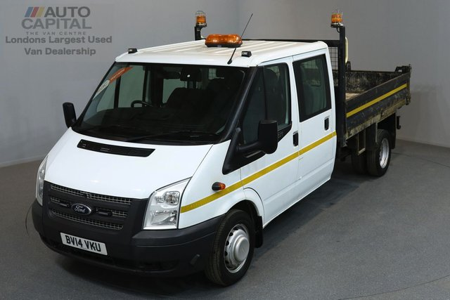 2014 14 FORD TRANSIT 2.2 350 DRW 99 BHP L3 LWB TIPPER ONE OWNER FROM NEW, MOT UNTIL 15/02/2019