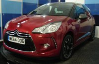 USED 2014 64 CITROEN DS3 1.6 DSTYLE PLUS 3d 120 BHP A stunning example of this highly regarded sporty hatchback finished in a wonderfull colour coordination of bright red and metalic grey roof and  mirror backs further enhanced by 17 black belone alloys ,This car comes equiped with air conditioning , bluetooth ,cruise control and speed limiter plus lots more,plus a very impressive combined mpg of 50.4 ,definitely one to be concidered