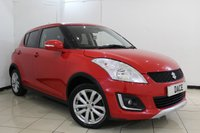 USED 2014 14 SUZUKI SWIFT 1.2 SZ4 5DR 94 BHP 4X4 BLUETOOTH + CRUISE CONTROL + MULTI FUNCTION WHEEL + AIR CONDITIONING + RADIO/CD + 16 INCH ALLOY WHEELS
