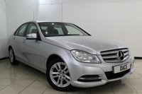 USED 2014 14 MERCEDES-BENZ C CLASS 1.6 C180 BLUEEFFICIENCY EXECUTIVE SE 4DR AUTOMATIC 154 BHP FULL SERVICE HISTORY + LEATHER SEATS + SAT NAVIGATION + PARKING SENSOR + BLUETOOTH + CRUISE CONTROL + MULTI FUNCTION WHEEL + CLIMATE CONTROL + AUXILIARY PORT + ALLOY WHEELS