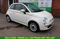 USED 2013 13 FIAT 500 1.2 LOUNGE 3d 69 BHP +Pan Roof +Bluetooth +Alloys.