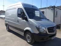 2015 MERCEDES-BENZ SPRINTER 313 CDI SWB HI ROOF, 130 BHP [EURO 5], AIR CONDITIONING £SOLD