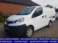 2013 NISSAN NV200 ACENTA WITH AIR CON & ELECTRIC PACK FROM BRITISH GAS £6995.00