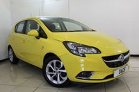 USED 2015 65 VAUXHALL CORSA 1.4 SRI ECOFLEX 5DR 89 BHP SERVICE HISTORY + BLUETOOTH + CRUISE CONTROL + MULTI FUNCTION WHEEL + AIR CONDITIONING + ALLOY WHEELS