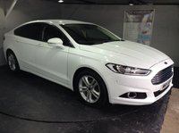 USED 2015 15 FORD MONDEO 2.0 TITANIUM TDCI 5d 177 BHP Only £30 a year road tax : Bluetooth : Satellite Navigation : DAB Radio : Ford active park assist system : Front and rear parking sensors : Just 1 previous private owner : Fully stamped Ford main dealer service