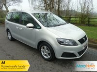 USED 2014 14 SEAT ALHAMBRA 2.0 CR TDI ECOMOTIVE S 5d 140 BHP Fantastic Seven Seat Seat Alhambra with Air Conditioning, Alloy Wheels and Service History