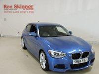 USED 2015 64 BMW 1 SERIES 2.0 120D M SPORT 3d 181 BHP with rear parking sensor
