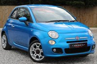 USED 2015 15 FIAT 500 1.2 S 3d 69 BHP **ELECTRONICA BLUE METALLIC**