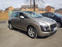 USED 2012 12 PEUGEOT 3008 1.6 ACTIVE E-HDI FAP 5d AUTO 112 BHP £30 ROAD TAX, 17211 MILES FROM NEW, LOW CO2 EMISSIONS, VERY ECONOMICAL AND RELIABLE, COMFORTABLE, SPACIOUS WITH A LARGE BOOT