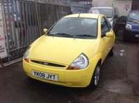 2008 FORD KA 1.3 STYLE CLOTH 3d 69 BHP £SOLD