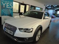 "USED 2012 62 AUDI A4 ALLROAD 2.0 ALLROAD TDI QUATTRO S/S 5d 174 BHP This A4 All road TDi Quattro is Finished in ibis white with black cloth seats and quattro decals to the side. Will be supplied with 12 months Mot (free of advisory notice) & a 6 month warranty which is extendable.  This A4 is fitted with  power steering, start stop, rear park assist, remote locking, climate control, electric windows and mirrors, daytime running lights, auto lights CD Stereo,18"" alloy wheels and more, and comes with a full service history."