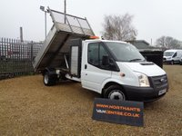 2013 FORD TRANSIT SINGLE CAB TIPPER 2.2 350 DRW 2d 125 BHP £12790.00