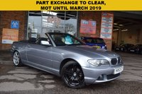 USED 2003 53 BMW 3 SERIES 2.0 318CI 2d 141 BHP PART EXCHANGE TO CLEAR, SORRY NO AA INSPECTION OR WARRANTY WITH THIS CAR. MOT until MARCH 2019. Amber brake warning light on dash. Lots of service records.