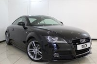 USED 2014 14 AUDI TT 2.0 TFSI QUATTRO S LINE 2DR AUTOMATIC 208 BHP SERVICE HISTORY + HALF LEATHER SEATS + MULTI FUNCTION WHEEL + RADIO/CD + AIR CONDITIONING + ELECTRIC WINDOWS + 18 INCH ALLOY WHEELS