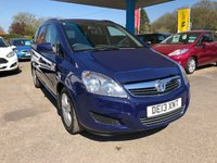 USED 2013 13 VAUXHALL ZAFIRA 1.6 EXCLUSIV 5d 113 BHP LOOKING FOR FINANCE? WE STRIVE FOR 94% ACCEPTANCE