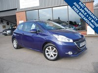 USED 2013 13 PEUGEOT 208 1.0 ACTIVE 3d 68 BHP £0 ROAD TAX, FULL HISTORY, 2 KEYS WITH REMATE CENTRAL LOCKING