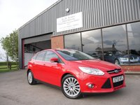 USED 2012 12 FORD FOCUS 1.6 TITANIUM X TDCI 5d 113 BHP PART LEATHER, FULL HISTORY, 2 REMOTE CENTRAL LOCKING KEYS, REAR PRIVACY GLASS