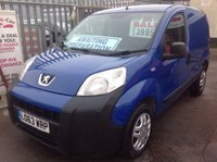 USED 2014 63 PEUGEOT BIPPER 1.2 HDI S 1d 75 BHP No vat, 69000 miles, one owner full service history. Superb.
