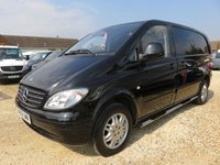 2009 MERCEDES-BENZ VITO 2.1 109 CDI COMPACT SWB 48143 MILES ONLY BLACK £6995.00