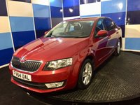 USED 2015 64 SKODA OCTAVIA 1.6 SE TDI CR DSG 5d AUTO 104 BHP A truely wonderful example of this much sought after family diesel hatchback finished in unmarked bright red metalic paintwork contrasted with silver alloy wheels ,this car comes equiped with all the usual refinements including media ,usb ,aux ,bluetooth,plus lots more in conjunction with £20 ayear road fund and a combined mpg of 72.4 definitely one to be concidered.