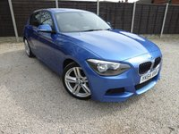 "USED 2014 64 BMW 1 SERIES 2.0 116D M SPORT 5dr Estoril Blue, 18"" Alloys"