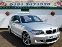 USED 2008 08 BMW 1 SERIES 1.6 116I M SPORT 5d 121 BHP 116 M SPORT, 68,000 MILES, SERVICE HISTORY, FINANCE AVAILABLE